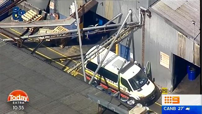 The men are in a critical condition and the rescue attempt is expected to take several hours Picture Nine News