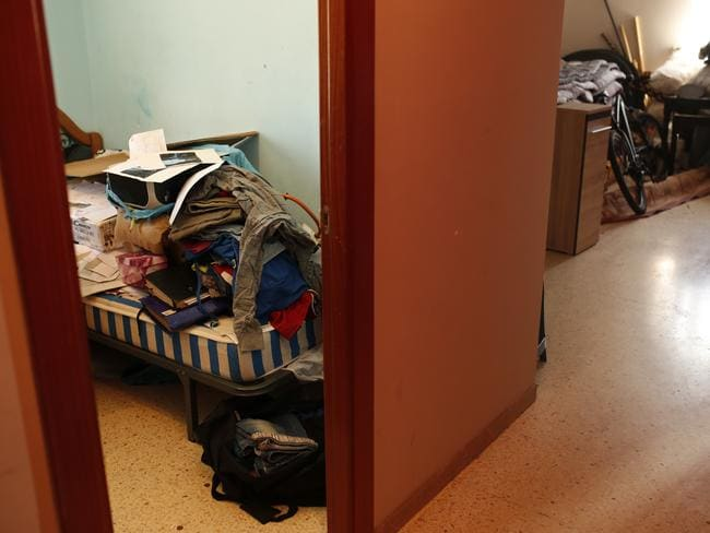 Personal belongings lie on top of a bed after a police raid on the house of the Oukabir family where Driss Oukabir and Moussa Oukabir, lived in Ripoll, north of Barcelona. Picture: AP