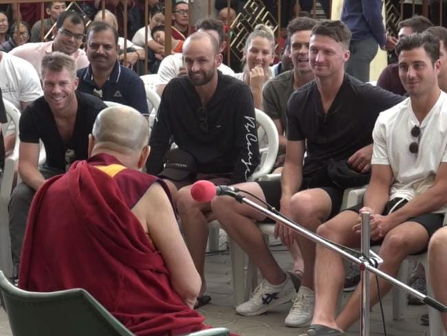 The Australian team hung off the Dalai Lama's every word when they met.