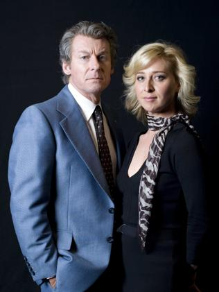 Keddie as Blanche d'Alpuget with Richard Roxburgh in the TV series Hawke.