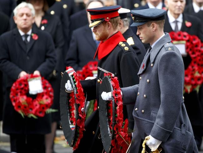 Prince Harry and Prince William participated in the service. Picture: AFP/Tolga Akmen