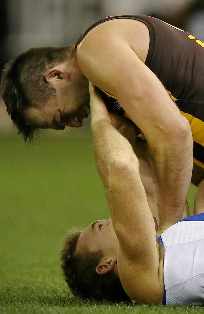 Lake suspended for four games for this incident with Petrie. Picture: Wayne Ludbey