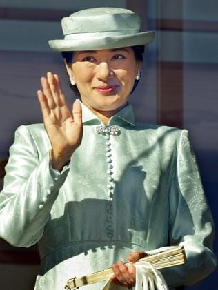 Japanese Crown Princess Masako waving during Emperor Akihito's 72nd birthday celebrations at the Imperial Palace in Tokyo, Japan in 2005. She is expected to become the next empress of Japan within three years.