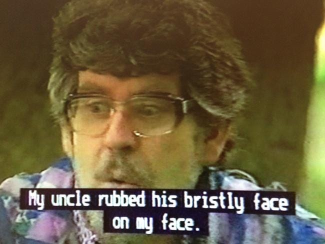 'My uncle rubbed his bristly face on my face.'