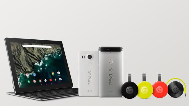 Google goodies ... The internet giant revealed a new tablet, two new smartphones, and TV and audio streaming devices at an event in San Francisco on September 30, Australian time.