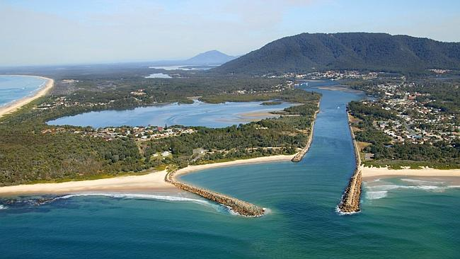 Aerial view over Laurieton and the Camden Haven region in NSW. Pic courtesy Greater Port Macquarie Tourism. Picture: Brian J...