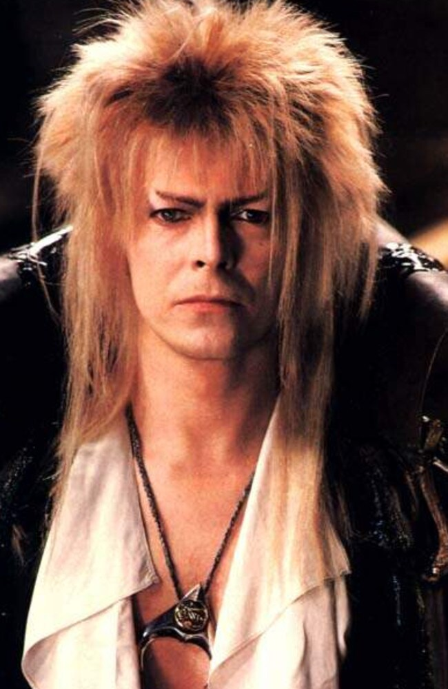 David Bowie in the 1986 musical fantasy adventure film Labyrinth, directed by Jim Henson. Picture: Supplied