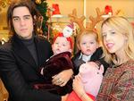 "Peaches' husband Thomas Cohen has said: ""I shall bring them upwith their mother in their hearts everyday"". Cohen is pictured with son Astala Dylan Willow Geldof-Cohen, Phaedra Bloom Forever Cohen and Peaches Geldof as they attend at the Dolce&Gabbana 'Christmas On Sloane Street' Children's Boutique launchin December 2013 in London, England. Picture: Getty"