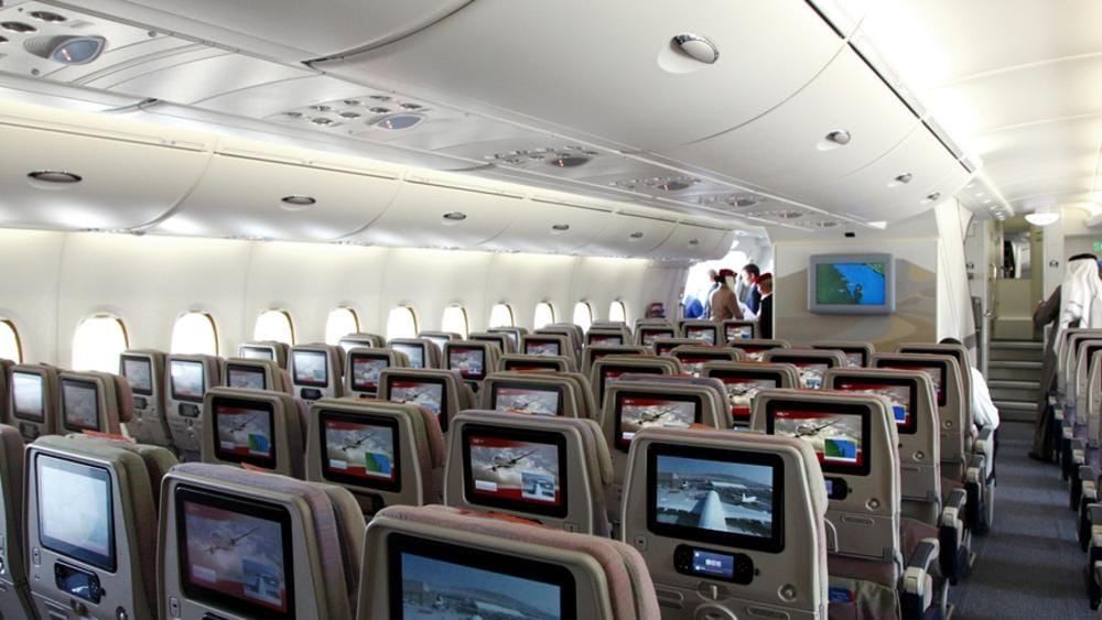 Emirates a380 sets record for most passenger seats on a - Emirates camera ...