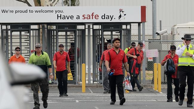 Firing line ... an estimated 2,500 factory workers at Toyota's Altona plant will lose their jobs. Picture: Kris Reichl
