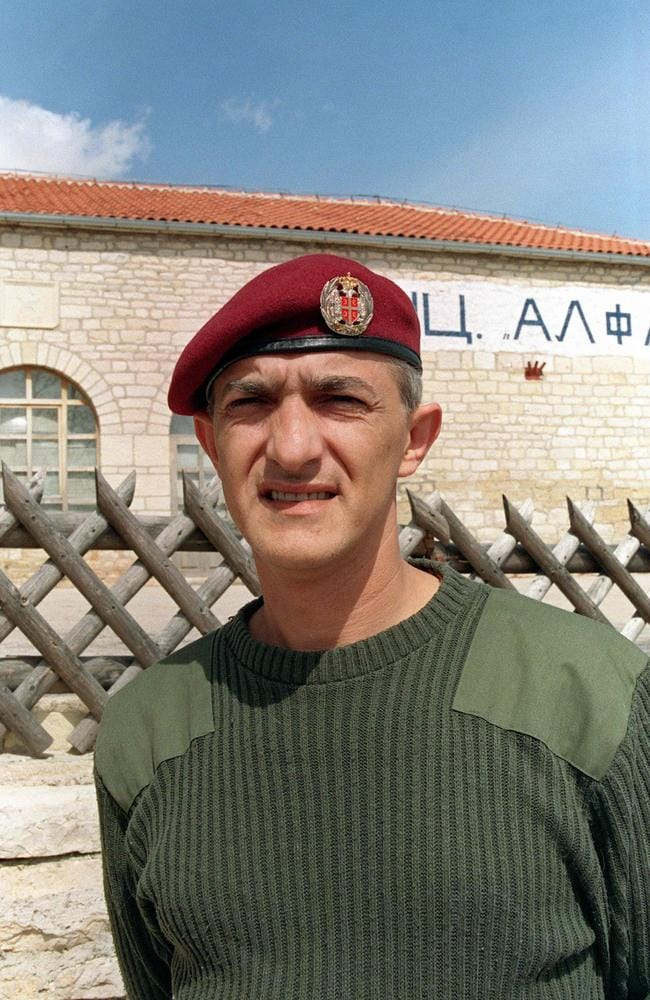Facing prison ... Dragan Vasiljkovic when in charge of a training camp for paramilitaries during the Balkans conflict.