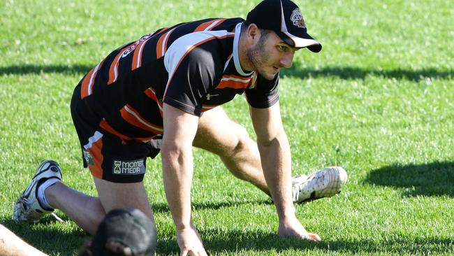 Robbie Farah trains on Friday. Picture: Cameron Richardson