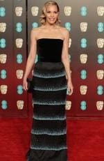 US actress Leslie Bibb poses on the red carpet upon arrival at the BAFTA British Academy Film Awards at the Royal Albert Hall in London on February 18, 2018. Picture: AFP PHOTO / Daniel LEAL-OLIVAS