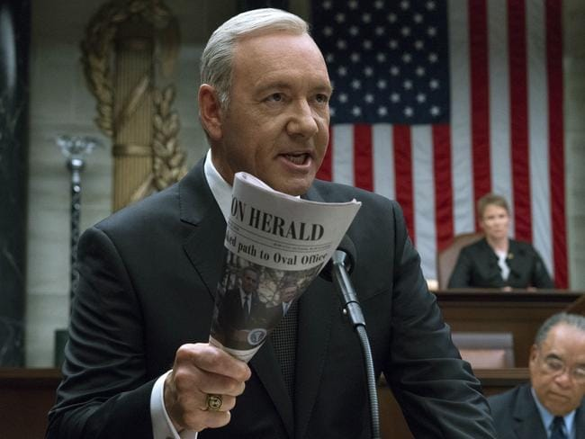 The Netflix hit is dead in the water as Spacey's scandal grows. Picture: AP