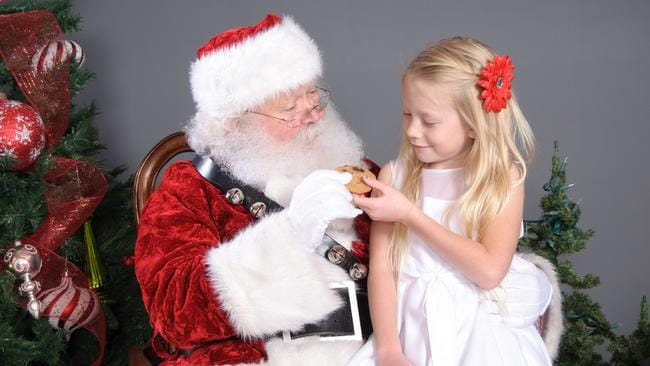 Santa Claus is available for selfies for the price of one cookie at Acland Court Shopping Centre. Actually he won't even charge that.