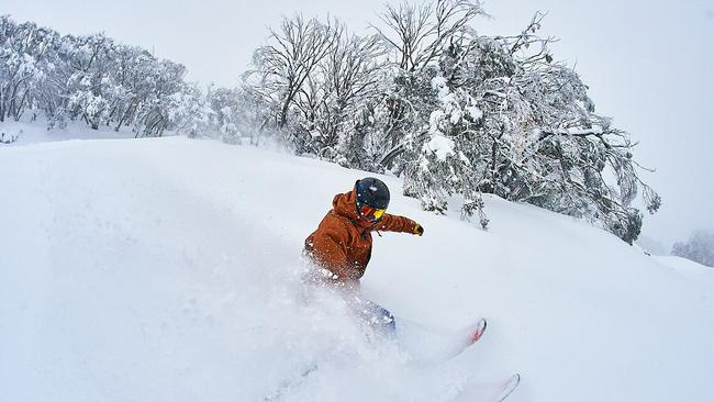 Mt Buller has been blanketed in deep snow which began falling last Thursday.