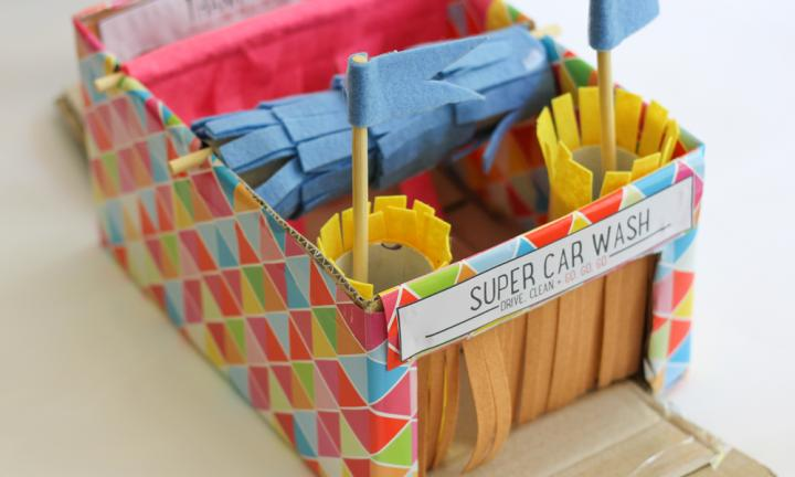 Cool Toys To Make : Make a cool car wash for toy cars kidspot