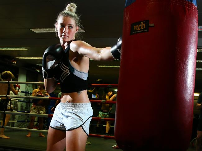 Tayla Hariss scored her second pro win. Picture: Liam Kidston.