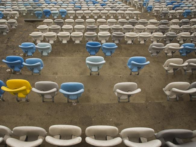 Seats have been ripped up at the Maracana. Picture: Guito Moreto/Agência O Globo