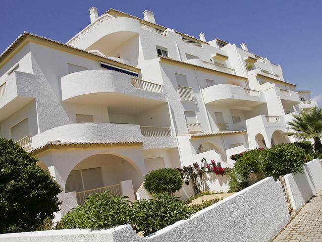 The apartments in Paia da Luz in Portugal where Madeleine McCann was abducted. Picture: AFP