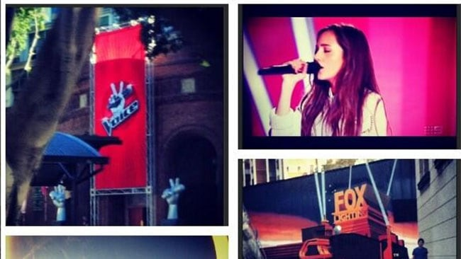 Kaity Dunstan shares some pictures of The Voice on Twitter. Picture: Kaity Dunstan / Twitter