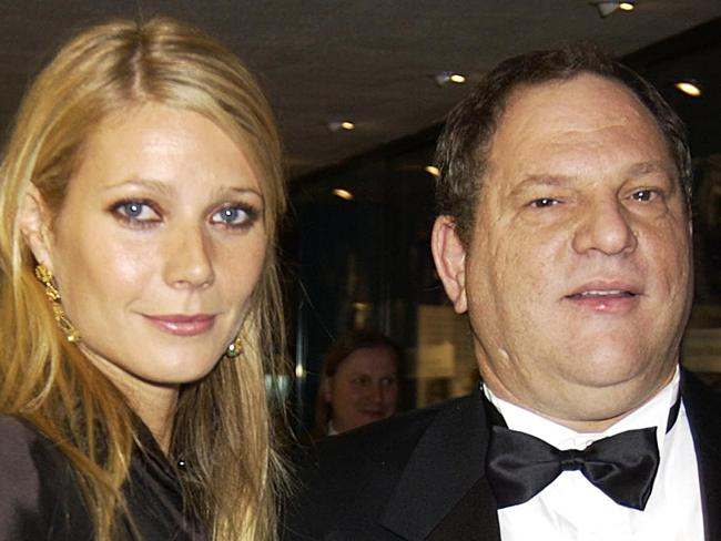 Gwyneth Paltrow with Harvey Weinstein in 2002. Paltrow alleges Weinstein sexually harassed her when she was a young actress. Getty Images