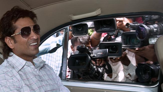 The world Sachin Tendulkar lives in, complete with all-intrusive media scrutiny and lack of privacy.