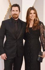 Christian Bale and Sibi Blazic attend the 88th Annual Academy Awards on February 28, 2016 in Hollywood, California. Picture: AFP