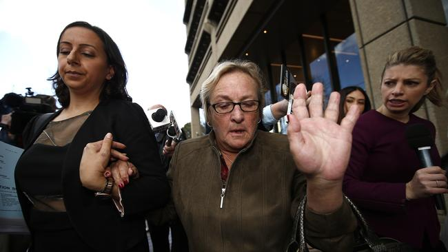 Keli Lane's mother, Sandra Lane, leaves the Supreme Court, Queens Quare after the appeal hearing was rejected. Picture: Bradley Hunter