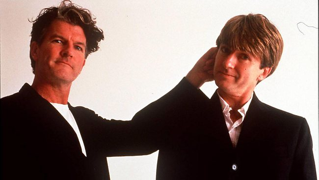 Singers Tim and Neil Finn.