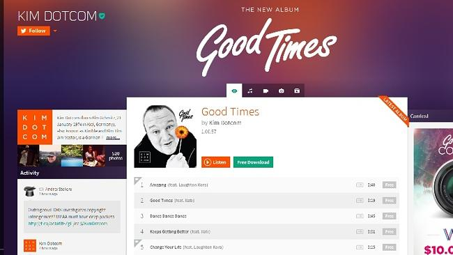Kim Dotcom's Baboom music service. And his own a...