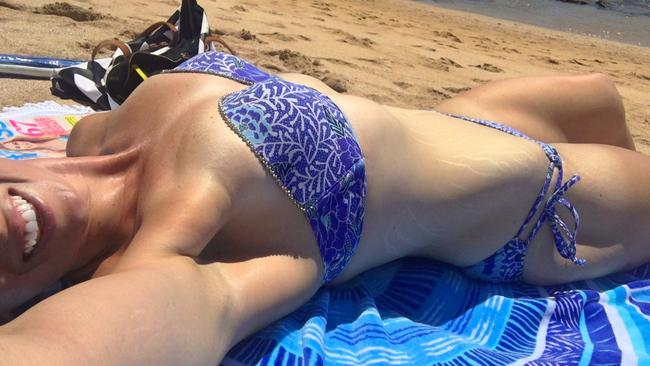 A beach selfie Kate is proud of. Picture: Caters News