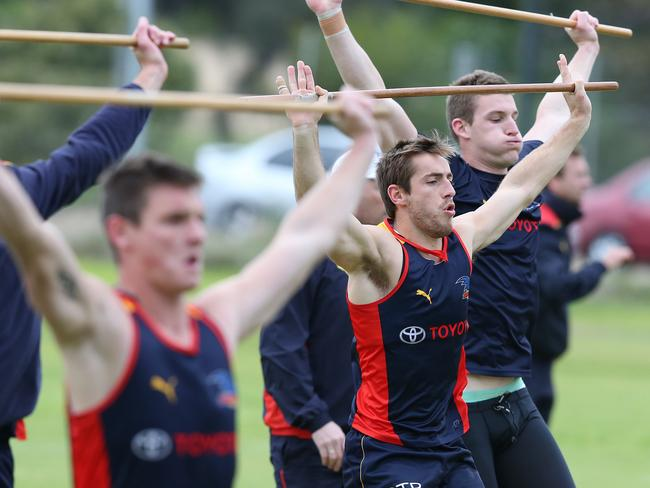 Douglas and the Crows are put through their paces. Picture: Sarah Reed