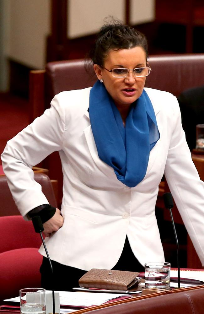 Shocking radio outburst ... Palmer United Party Senator Jacqui Lambie.