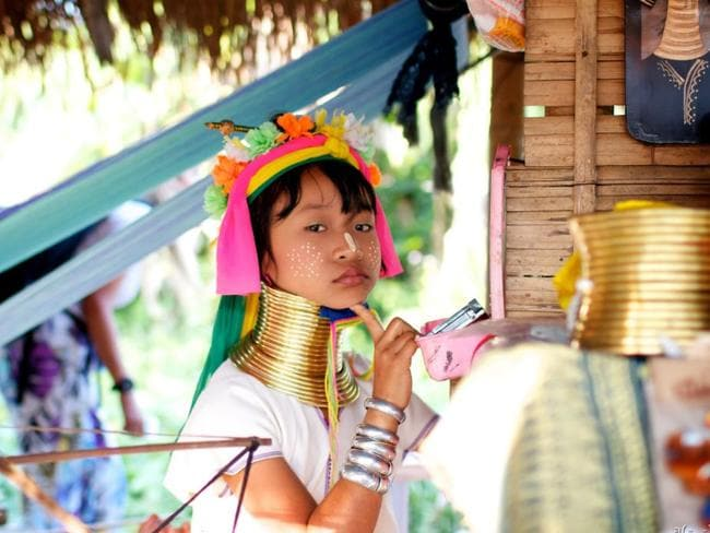 A girl from the Kayan community in Thailand. Picture: Flickr/indigo mood
