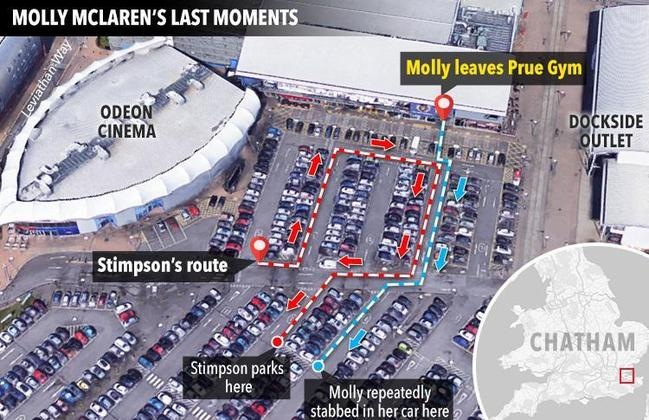 The last known movements of Molly before she was killed. Picture: The Sun