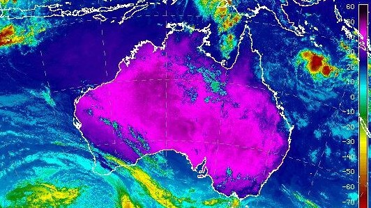 Parts of Australia just sweltered through their hottest ever April day on Monday. Picture: Bureau of Meteorology.