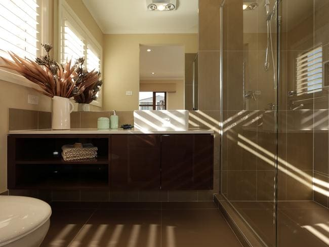 The master bedroom ensuite allows parents some much needed privacy. Picture: John Fotiadis