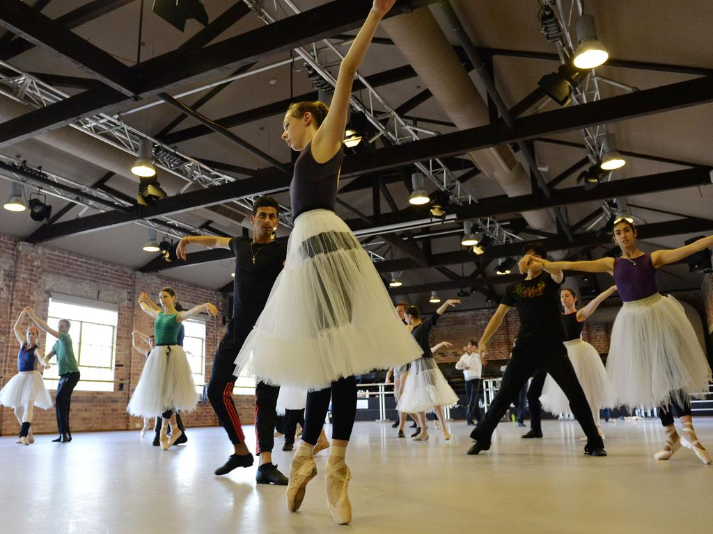 The WA Ballet company is preparing for its next production - La Fille Mal Gardee (The Wayward Daughter). Picture: Stewart Allen.