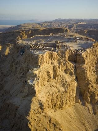 Pillar of sacrifice ... the ancient Masada fortress where the last Israeli Zealot freedom fighters committed suicide rather than face defeat by besieging Roman Legionaries in 74AD.