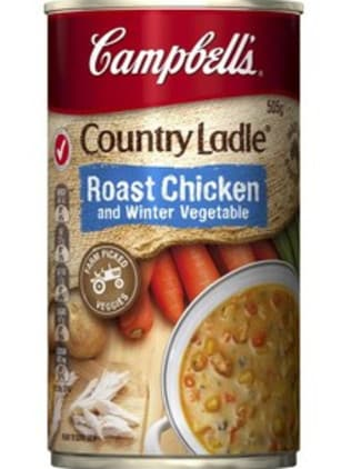 This canned soup has more than 50 per cent veggies.