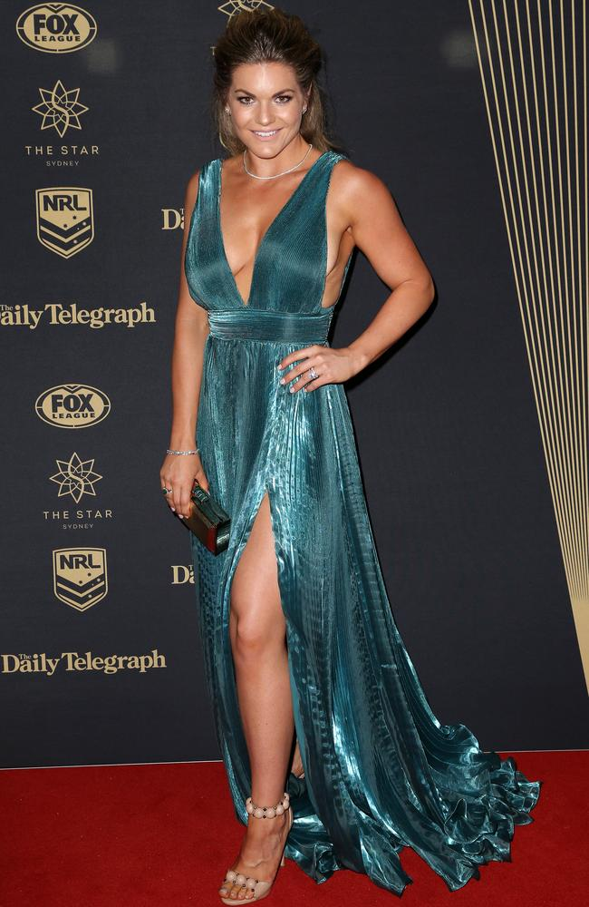 Sarah Woods at the 2017 Dally M Awards held at The Star in Pyrmont. Picture: Christian Gilles