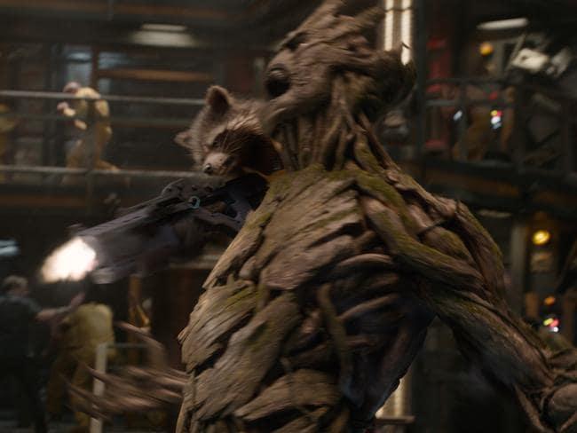 Rocket Racoon and Groot in the thick of the action in  <i>Guardians</i>. Picture: Supplied