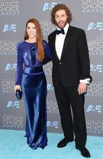 Kate Gorney and host T. J. Miller attend the 21st Annual Critics' Choice Awards on January 17, 2016 in California. Picture: AFP
