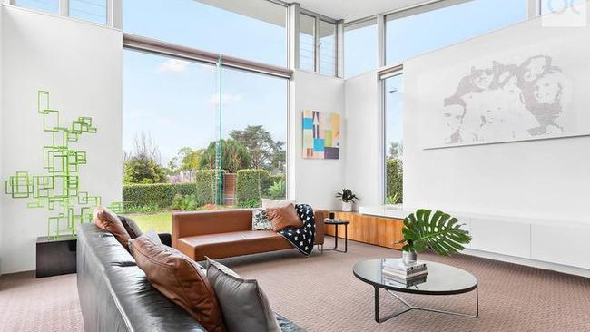 The home included a feature lounge with high ceilings overlooking Wood Park.