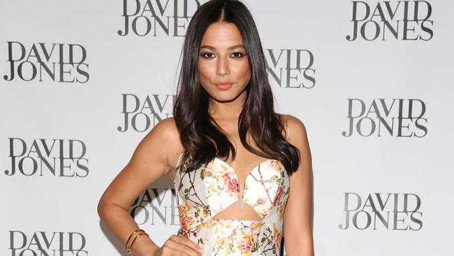 Jessica Gomes arrives at the David Jones Spring/Summer 2014 Collection Launch. (Photo by Caroline McCredie/Getty Images for David Jones)