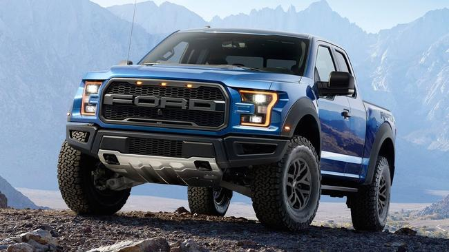 US media has speculated the Ranger Raptor may borrow turbo petrol from the F150 Raptor (pictured) or the Mustang and Focus RS. But it may also go diesel given Chevrolet's recent success with the Colorado in the US. Photo: Supplied.