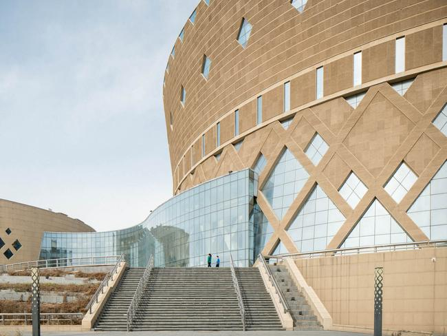 Ordos Grand Theatre is largely empty. Picture: Raphael Olivier