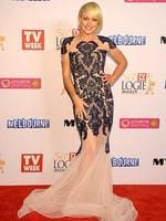 Shelley Craft during the Red Carpet Arrivals ahead of the 56th TV Week Logie Awards 2014 held at Crown Casino on Sunday, April 27, 2014 in Melbourne, Australia. Picture: Jason Edwards