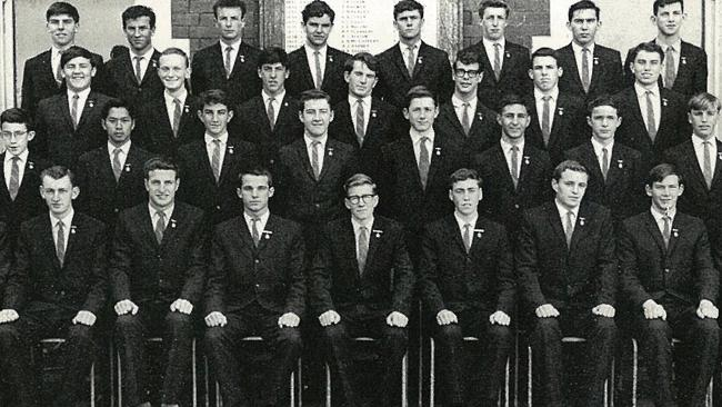 Team player ... Peter Cosgrove among his fellow Waverley College Prefects in 1963. He is in the second row from the front, fifth from the left.